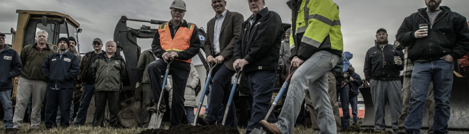 Ground breaking in Centralia, Washington for the new K Series rotary screw production