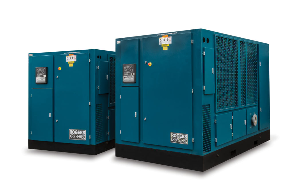 Two KR2/KR2V air compressors